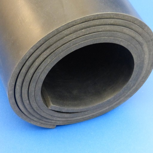 Hypalon Rubber Sheet - Black-0