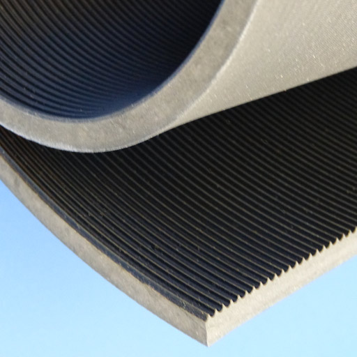 Rubber Matting - Fluted - 915mm - Black-0