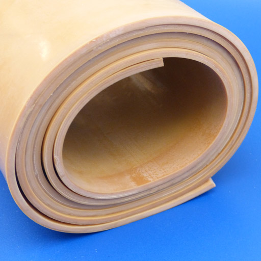 Natural Rubber Sheet - Shotblast - Tan-0